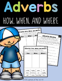 Adverbs (How, When, Where) Worksheet Common Core