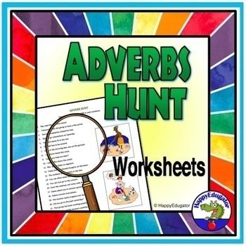 Adverbs Hunt Worksheets