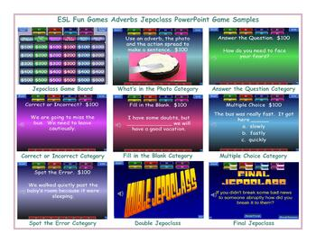 Adverbs Jeopardy PowerPoint Game Presentation