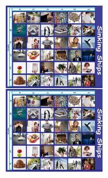 Adverbs Legal Size Photo Battleship Game