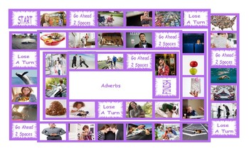 Adverbs Legal Size Photo Board Game