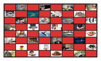 Adverbs Legal Size Photo Checkers Game