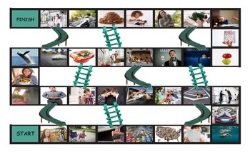 Adverbs Legal Size Photo Chutes and Ladders Game