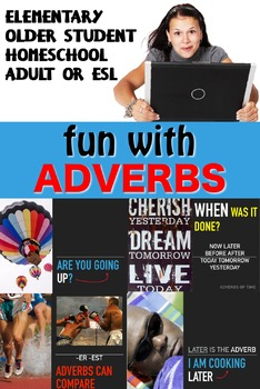 FUN WITH ADVERBS Visual English lesson good for DEAF Hearing Impaired SPED ESL
