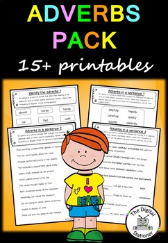 Adverbs Pack (Parts of Speech) - 15+ worksheets