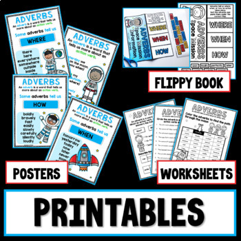 Adverbs PowerPoint and Printables
