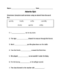 Adverbs Quiz