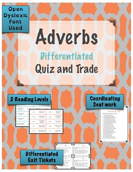 Adverbs Quiz and Trade Game {Differentiated}