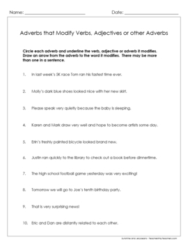 Adverbs - Recognizing and Using Them - 6 Worksheets & Key - Grades 3-4 - CCSS
