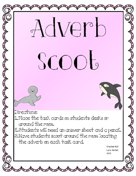 Adverbs Scoot Game