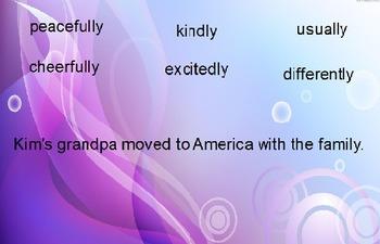 Adverbs Sentence activity