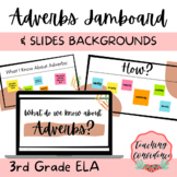 Adverbs Slides and Jamboard Backgrounds - 3rd Grade ELA