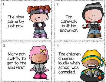 Adverbs- Snow Much Fun!