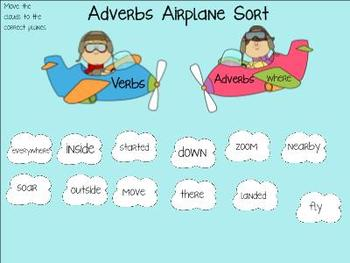Adverbs: Soaring Swiftly SMARTBoard Lessons with Printable Game