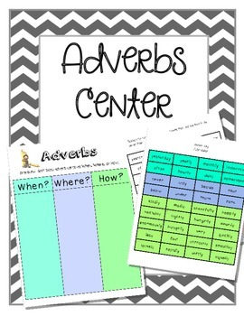 Adverbs Center - Sorting When, Where, How