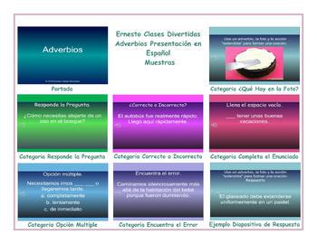 Adverbs Spanish PowerPoint Presentation
