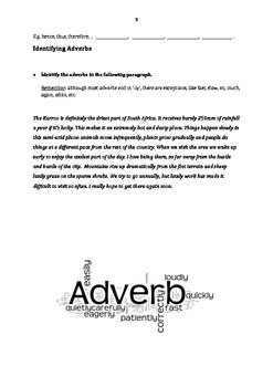 Adverbs: Student Activities and Handouts + Answer Key