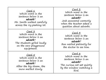Adverbs Task Cards for Journeys Grade 2