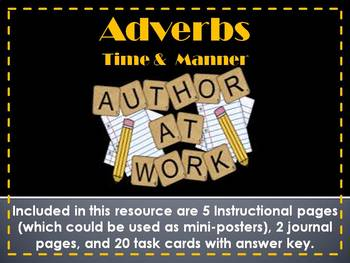 Adverbs - Time & Manner