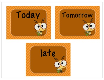 Adverbs: Time - Order Words