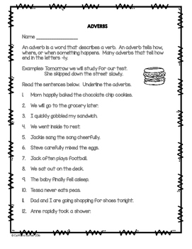 Adverbs Treasure Kit