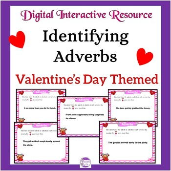 Adverbs Valentine's Day Themed Digital Task Cards: Google Drive