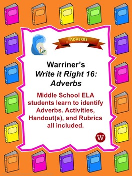 Adverbs: Warriner's Write it Right 16