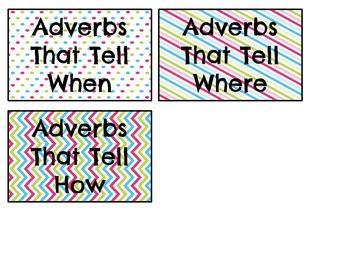 Adverbs Word Sort