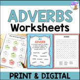 Adverbs Worksheets (Distance Learning)