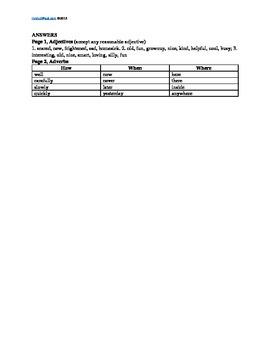 L.2.1.e Adverbs and Adjectives, Grades 2, 3