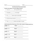 Adverbs and Plural Nouns Quiz