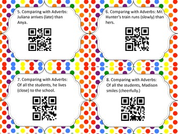 Adverbs and Prepositions QR Code Review