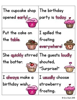 Adverbs are Sweet! {A Read & Sort Literacy Center}