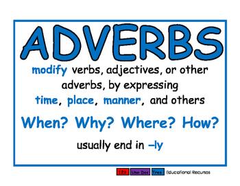 Adverbs blue