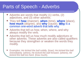 Adverbs for Daily Practice