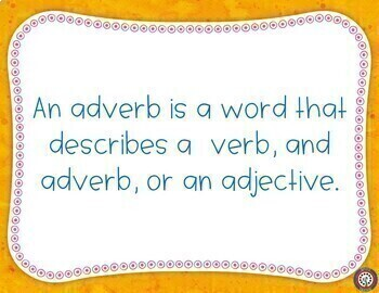 Adverbs for Google Classroom Self Grading - Grammar Lesson and Practice
