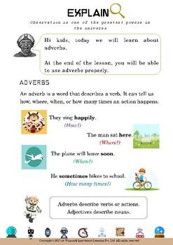 Adverbs for Grade 1