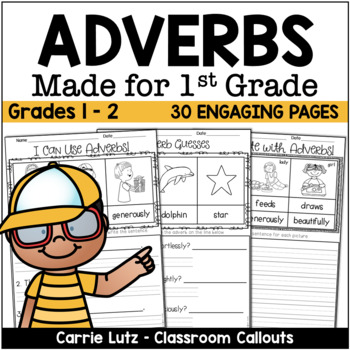 Adverbs for the Primary Grades 20 Activity Pages