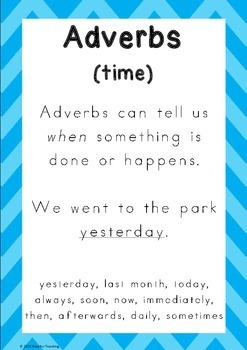 Adverbs in a Bag Activity Pack