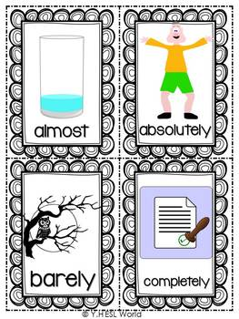 Adverbs of Degree {Flashcards}