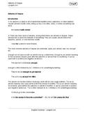 Adverbs of Degree Worksheet