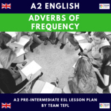 Adverbs of Frequency A2 Pre-Intermediate Lesson Plan For ESL