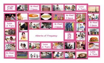 Adverbs of Frequency Legal Size Photo Board Game