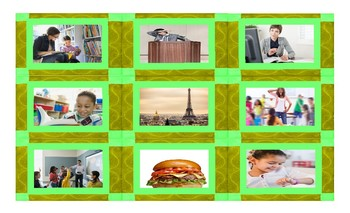 Adverbs of Frequency and Expressions Legal Size Photo Card Game