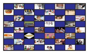 Adverbs of Frequency and Expressions Spanish Legal Size Photo Checkers Game
