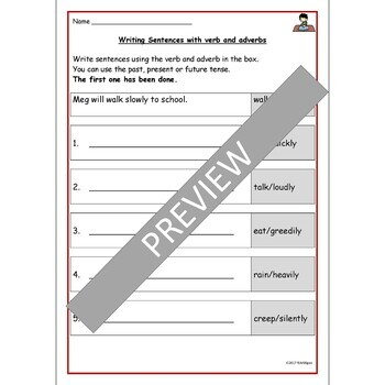 Adverbs of Manner: Color-coded Flashcards, Room Visuals, Practice Worksheets