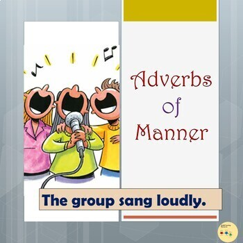 Adverbs of Manner: Color-coded Flashcards, Room Visuals, Wall Displays