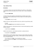 Adverbs of Place Worksheet