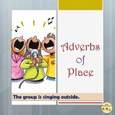 Adverbs of Place Worksheets Room Visual Posters/Anchor Cards, Flashcards