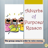 Adverbs of Purpose or Reason Worksheets Flashcards Anchor Charts/Posters